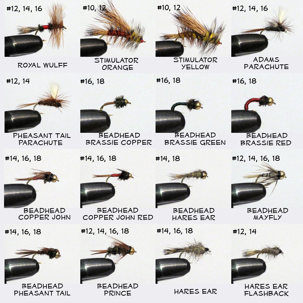 Barnsley 100 Assorted Dry and Nymph Trout Fishing Flies Lure